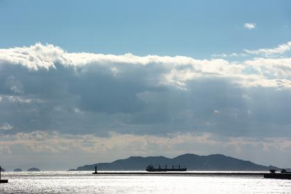 瀬戸内の海、島、船・日本