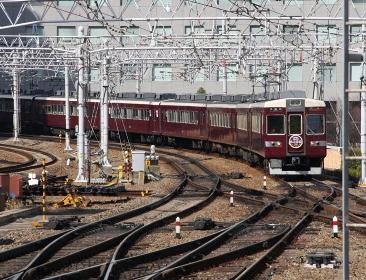 京都線特急運転終了時の阪急電鉄6300系