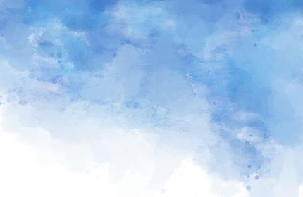 背景素材 水彩絵具で描いたにじみ 青