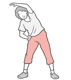 ラジオ体操 中年女性 ストレッチ 外