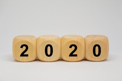 2020年 サイコロ イメージ素材
