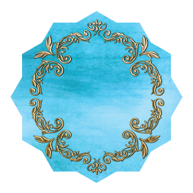 グラフィック素材水彩タッチゴールドフレーム:エレガントなエチケットラベルデザイン・オーナメント飾り罫