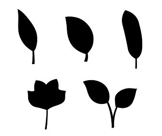 葉のアイコンセット