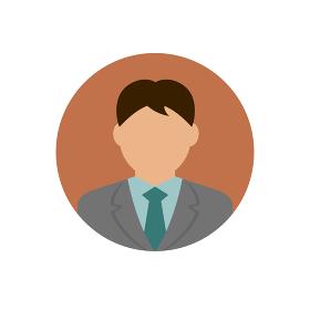 ビジネスマン上半身イラスト(日本人・アジア人)