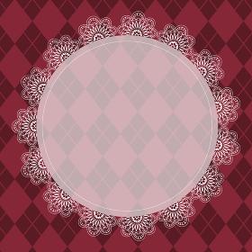 ゴシックなピンク色のチェック柄背景