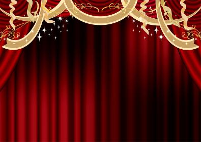 豪華なレッドカーテン(コーンサート、クリスマス)