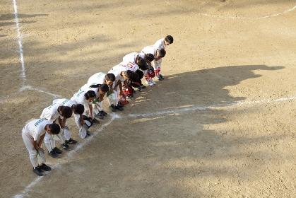 少年野球試合後の挨拶