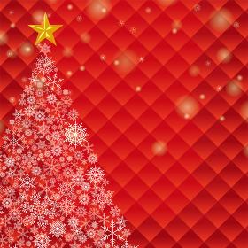 クリスマス向け背景画像 雪の結晶のクリスマスツリーイラスト  Merry Xmas