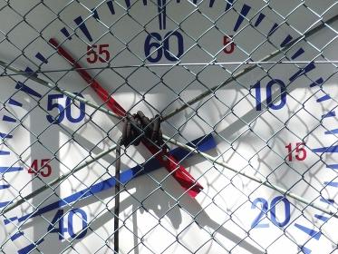 水泳競技用の大型時計