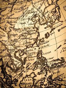アンティークの世界地図 東アジア