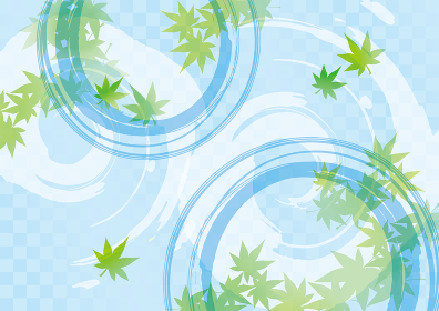涼しげな水のイメージイラスト