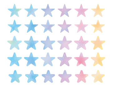 グラデーションのきれいな水彩タッチの星のイラスト