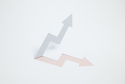 増収・上昇のイメージ (※A・ピンク色)