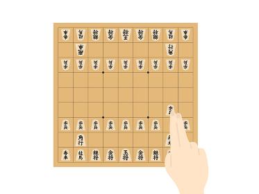 将棋をするイラスト