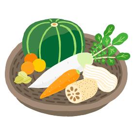 冬至の運盛り 野菜の盛り合わせ