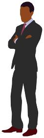 立っている人物 ベクターイラスト(黒人・男性)