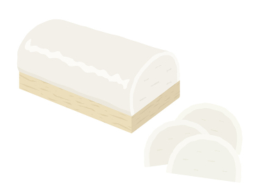 白の蒲鉾のイラスト