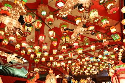 長崎ランタンフェスティバルの夜の明かり