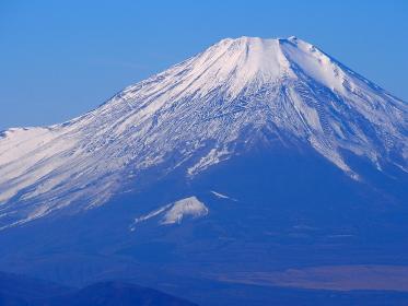 12月の富士山はまだ雪が少ない