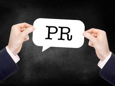 PR written on a speechbubble