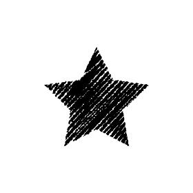 チョークで描いたような図形/アイコン(星・スター)
