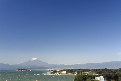 湘南海岸と富士山