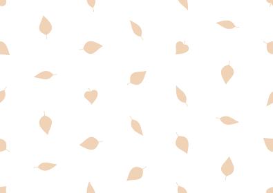 ベージュの葉のシームレスなドット背景のイラスト