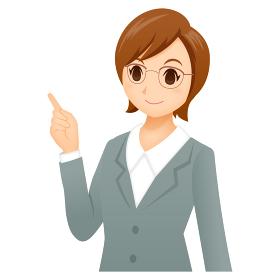 女性 ビジネス ポーズ スーツ