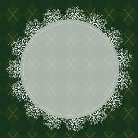 ゴシックな緑色のチェック柄背景