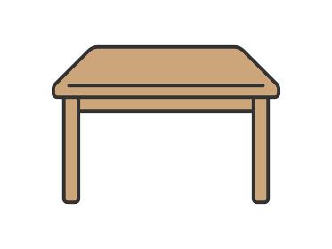 ダイニングテーブルのアイコンイラスト