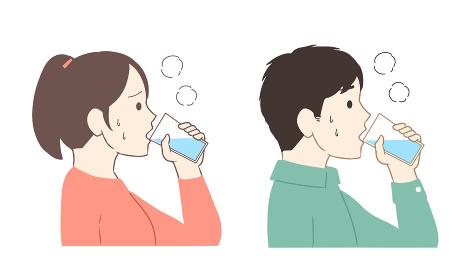 水分補給をする(線無し)
