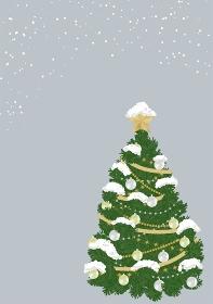 クリスマスツリーのシックなフレーム 背景