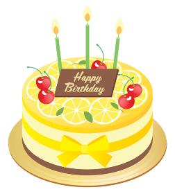 レモンのお誕生日ムースケーキ