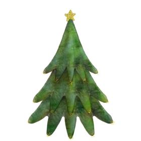シンプルなクリスマスツリーのイラスト
