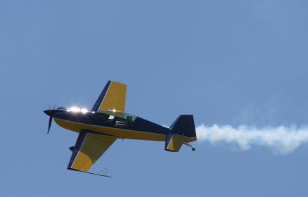 アクロ専用の単発プロペラ機(2011年岡山県甲南飛行場航空フェア)
