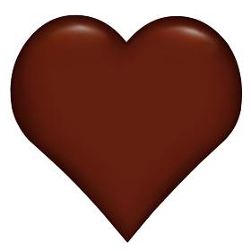 ハートのチョコレート 3D バレンタイン イエロー ゴールド
