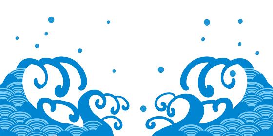 海イメージの波柄