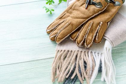 マフラーと手袋