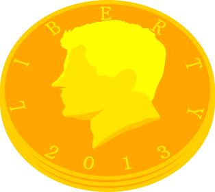 積み上げられた50セント硬貨の束 米国ドル 資産家 金融 小銭