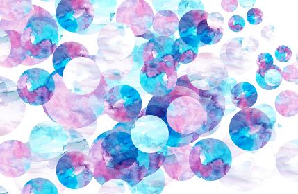 水彩水玉の背景素材