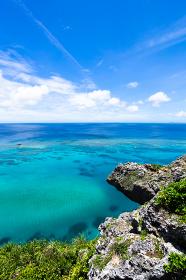 沖縄県宮古島、夏の風景・日本