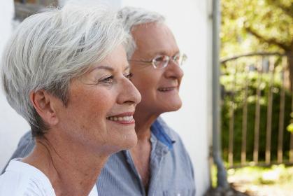 Senior couple portrait close-up