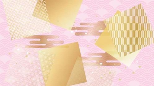 ピンクの和風イメージ