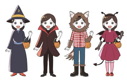 ハロウィンの仮装(女の子)