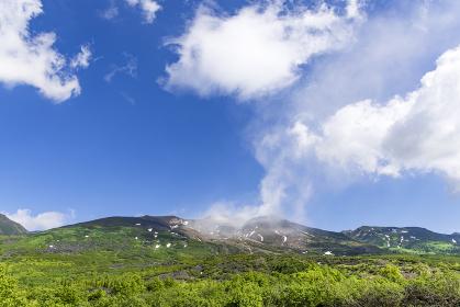 北海道 望岳台より十勝連峰を望む