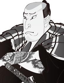 浮世絵 歌舞伎役者 その58 白黒