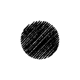 チョークで描いたような図形/アイコン(円形)