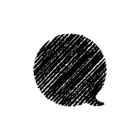 チョークで描いたような図形/アイコン(吹き出し・セリフ)