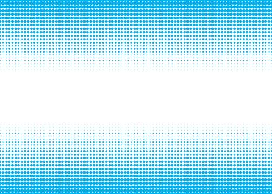 ドットのグラデーション ハーフトーンスクリーン パターンの背景イラスト 青上下帯