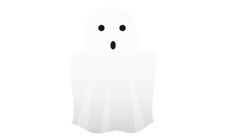 ハロウィンのシンプルな幽霊のイラスト ベクターイラスト